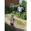 so Ben took me for a walk to show me that all the houses in the village had made scarecrows. He c...