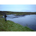 Pole- fishing in Iceland.