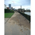 1. The River Severn at Worcester - after the recent floods - the riverside path is still showing ...