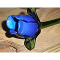 BLUE ROSE SSPHOTOSHOP GLASS FLOWER BUD