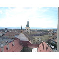 Sibiu architecture Romania panorama transylvania center church