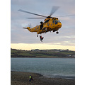helicopter rescue northam burrows devon