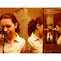 sony dsch1 h1 mirror girl camera photographer bathroom reflection