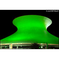 stlouis missouri us usa architecture Planetarium night color green 091908 2008