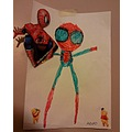 painting spiderman