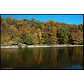 stlouis missouri us usa landscape fall tree sky blue lake water PR 2007