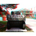 Anaglyph 3D Stereoscopic Military Tank Weapon American Vintage Antique Museum