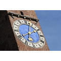 Vicenza Italy Italia clock tower blue sky architecture public square hour
