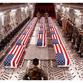 From the internet. This is a photo of my flag on coffins of dead American boys and girls killed i...