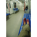 metro underground train tube shoes