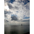 clouds ship volendam holland sky sea