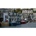 0206 Manipulated Cornwall Looe UK sea Coast Boat Moored Quey