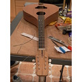 Strung up and nut slots cut