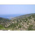 Sea island view Chios Greece