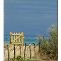 beach sea France summer door yellow july