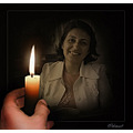 light darkness selfportrait candle