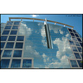 stlouis missouri us usa architecture glass mirror clouds 041508