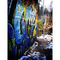 graffiti colors color water rocks wall