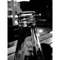 bottle cocacola bw glass