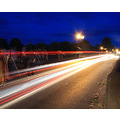 chester england light trails traffic