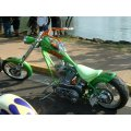 Green Goblin bike at the 2005 Toys for Tots ride in Waikiki