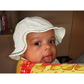 baby girl olivia white cap face
