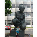Birmingham England City Statue People Children