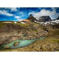 e620 sky clouds mountain dyrfjoll storurd rocks Iceland