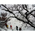 iran karaj mountain winter snow sirab
