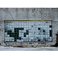 white wall brick texture snow urban