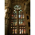 gaudi church window glass
