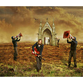 cone morse landscape guitar woman church photomanipulation clones