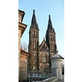 church cemetery architecture tower Vysehrad Prague Bohemia