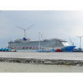 cruiseship the norwegian breakaway in the Eemshaven