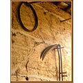 oldies France metal house wall stones rusty country
