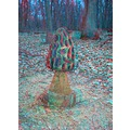 Anaglyph stereoscopicnature art 3D