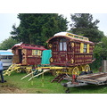 gypsy waggon traditional gypsy living wagon decorated ornate Reading caravan