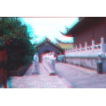 statue temple museum confucius japan chinese nagasaki anaglyph 3d