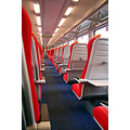 empty train carriage rail railway seats compartment south west trains