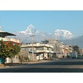 pokhara new road nepal fishtail mountain daily life