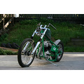 harley panhead chopper green flake
