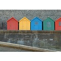 beach huts beach whitby yorkshire coast seaside colour bathing