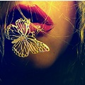 curse of the golden butterfly close up lips people woman contrast pink keit