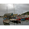 Cornwall Mevagissey UK Harbour Sea Coast Sail Boat Moored