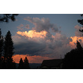 California Quincy sierras thunderclouds sunset