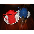kitchenalia enamel potterware tea caffee pot