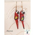 parrot jewelry earrings