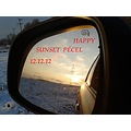 mirror sunset snow ice 20121212 reflectionthursday pecel hungary janos
