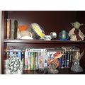 book case books fantasy Myst Yoda Troll