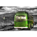 'Outstanding Bus': An interesting old bus 'standing out' against the scenery of the Yorkshire Dal...